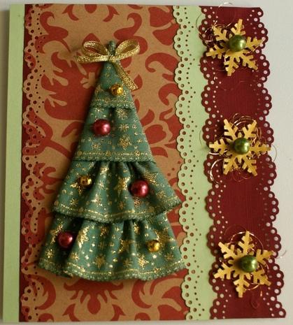Новогодние открытки ручной работы